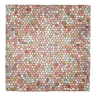 Coral Mosaic Beads 5050 duvet cover