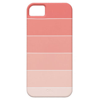Coral Ombré Stripes iPhone 5 Cover