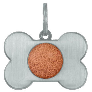 Coral Orange Abstract Low Polygon Background Pet Name Tag