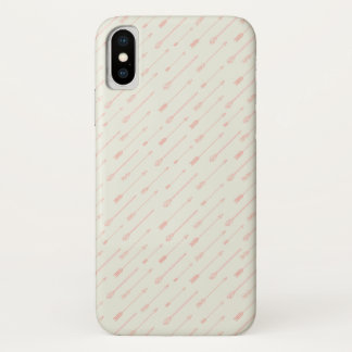 Coral Outlined Arrows Pattern iPhone X Case