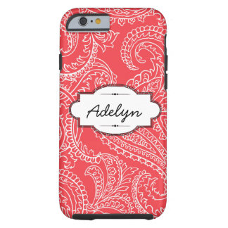 Coral Paisley iPhone 6 Tough Case