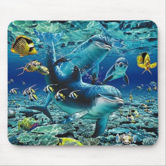 coral_pals_dolphins_1B, Roll All Over me Mouse Pad
