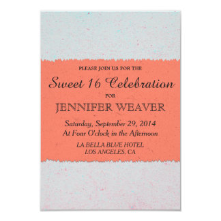 Coral Peach and Slate Grey Edgy Pattern Card