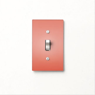 Coral Peach Dipped Chic Elegant Tropical Home Light Switch Cover