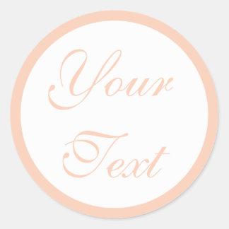 Coral/Peach Wedding Envelope Seals w/ Custom Text