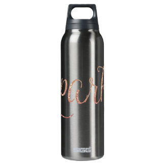 Coral Pink and Gold Faux Glitter Sparkle SIGG Thermo 0.5L Insulated Bottle