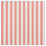Coral Pink and White Stripes Fabric