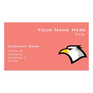 Coral Pink Bald Eagle Pack Of Standard Business Cards