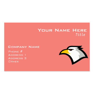 Coral Pink Bald Eagle Business Card Template