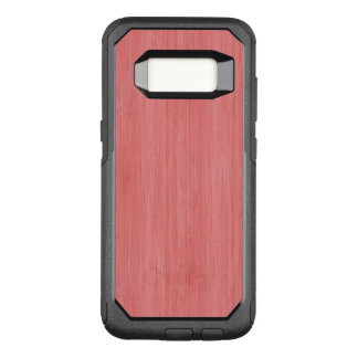 Coral Pink Bamboo Wood Grain Look OtterBox Commuter Samsung Galaxy S8 Case