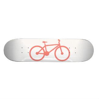 Coral Pink Bicycle Custom Skate Board