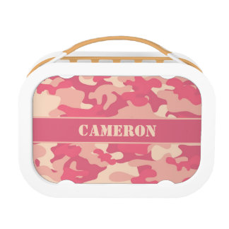 Coral Pink Camouflage (Camo) | Personalized Lunch Box