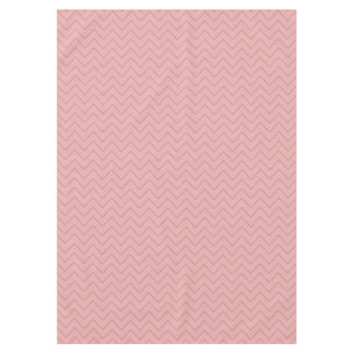 Coral Pink Chevron Tablecloth