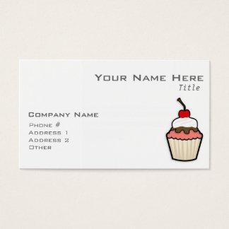 Coral Pink Cupcake Business Card