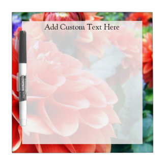 Coral Pink Dahlia Flower Dry Erase Board