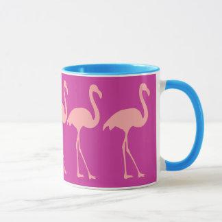 Coral pink flamingo bird design coffee mug