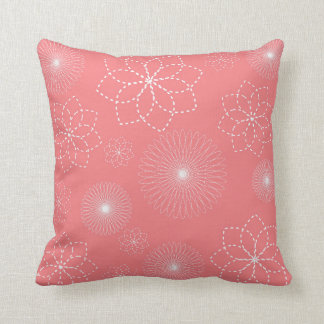 Coral Pink | Floral Throw Pillow