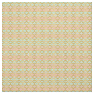 Coral Pink Mint Gold Chevron Fabric