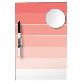 Coral Pink Ombré Stripes Dry Erase Boards