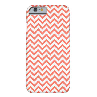 Coral Pink Peach Chevron iPhone 6 case Barely There iPhone 6 Case