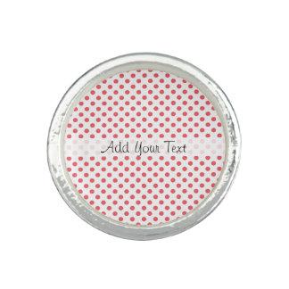 Coral Pink Polka Dots by Shirley Taylor Rings