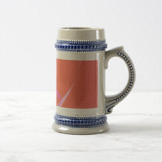 Coral Pink Simple Abstract Art Coffee Mug