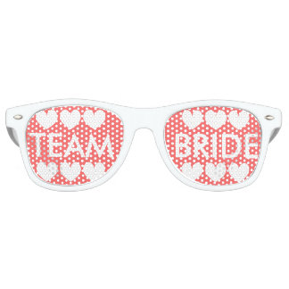Coral pink Team bride bachelorette party shades