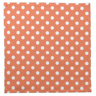Coral Polka Dot Pattern Printed Napkin