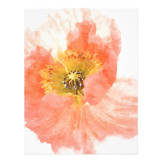 Coral Poppy Customized Letterhead