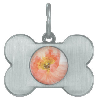 Coral Poppy Pet ID Tag