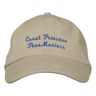 Coral PrincessPanaManiacs Embroidered Hat