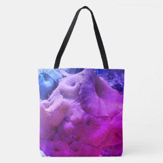 Coral Print Beach Bag