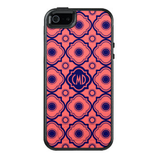 Coral Red And Blue Quatrefoil OtterBox iPhone 5/5s/SE Case