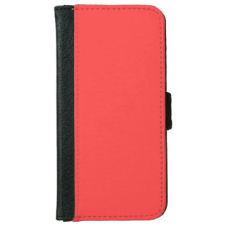 Coral Red High End Colored iPhone 6 Wallet Case