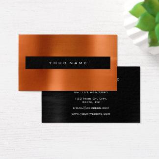 Coral Red Metallic Black Fashion Stylist Business Card