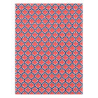 Coral Red, Navy White Moroccan Quatrefoil #5DS Tablecloth