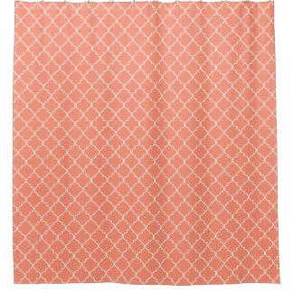 Coral Red Quatrefoil Pattern