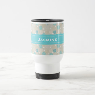 Coral Reef and sand dollar beach theme personalize Travel Mug