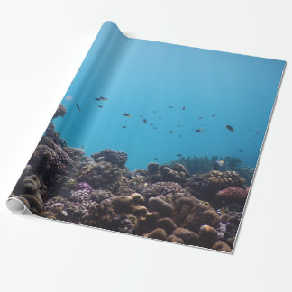 Coral Reef and Tropical Fish of Pacific Ocean Wrapping Paper