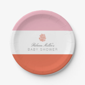 Coral Reef Baby Shower Paper Plate