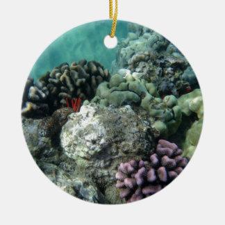 Coral reef ceramic ornament