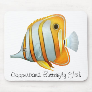 Coral Reef Copperband Butterfly Fish Mousepad