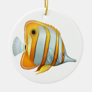 Coral Reef Copperband Butterfly Fish Ornament