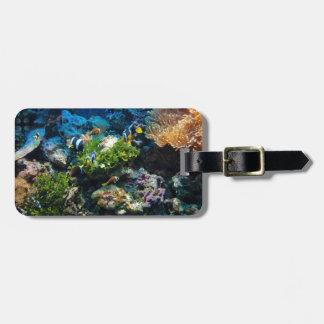 Coral Reef custom luggage tag
