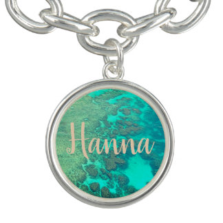 Coral reef customizable charm bracelet.