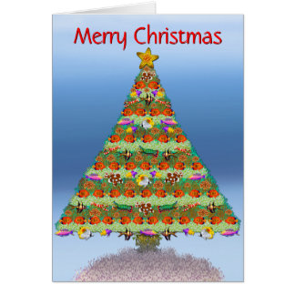Coral Reef Fish Christmas Card