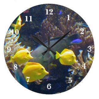 Coral Reef Fish Large Clock