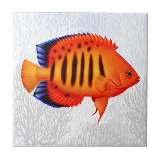 Coral Reef Flame Angelfish Tile
