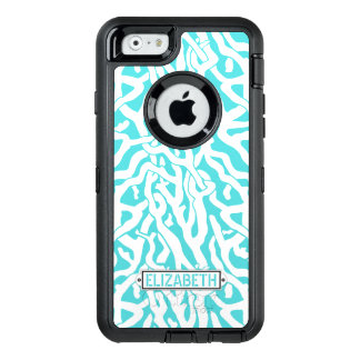 Coral Reef Nautical Beach Aqua Blue White | Custom OtterBox iPhone 6/6s Case