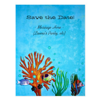 Coral Reef - Save the Date! Postcard